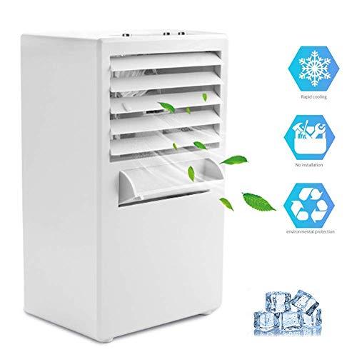 KEYUAN Mobile Klimageräte Luftreiniger Haushaltsluftkühler Luftbefeuchtung 3 Geschwindigkeitsstufen ohne abluftschlauch kühlgeräte für räume H21502 schwarz-weiß,White