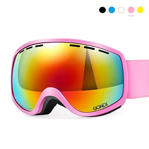 Gonex Skibrille Herren Kinder, 3 Size Snowboardbrille für Kinder Herren Damen Jugendliche...