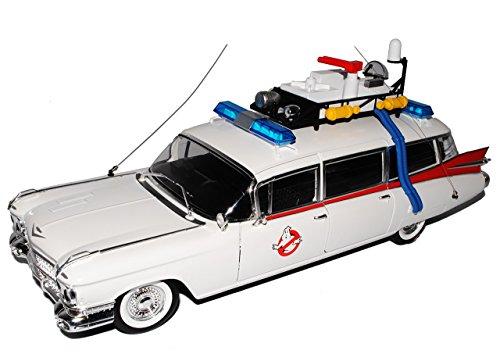 Ecto 1 Cadillac 1989 Ghostbusters II mit Zubehör auf dem Dach 1/18 Mattel Hot Wheels Modell - 1 Hot Wheels-ecto