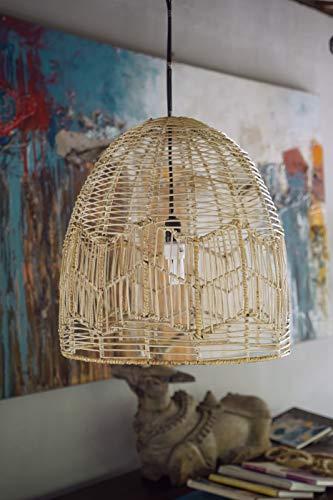 Morgan (Natural Rattan) Monnarita LAMPE, 100% natürliches Rattan, Moderner, NATÜRLICHE FARBE, braun, Stilvoller RATTANLAMPE Monnarita im Boho-Stil passt perfekt zu Ihrem Esszimmer, Wohnzimmer - Kunststoff-stuhl Moderner
