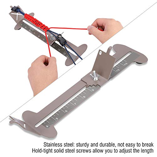 Imagen de dioche diy pulsera paracord jig, herramienta fabricante de paracord pulsera hebillas trenzado de cuerdas con hebillas libres alternativa