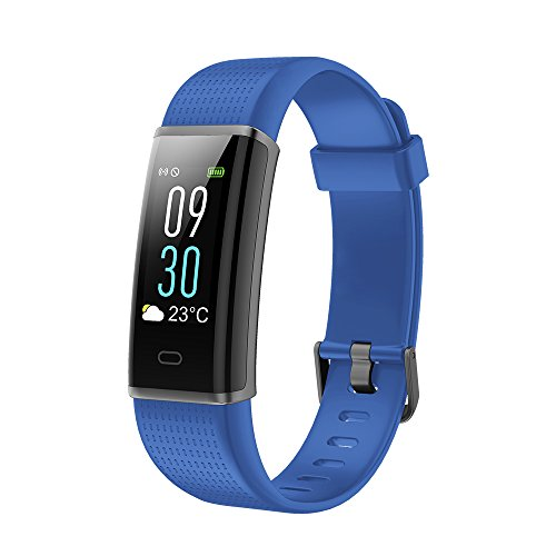 Vigorun Fitness Armband Farbdisplay Fitness Tracker mit Pulsmesser IP68 Wasserdicht Aktivitätstracker Fitnessuhr SMS/SNS Alarm Schrittzähler für Männer, Frauen und Kinder - Multi Hitze Einstellungen