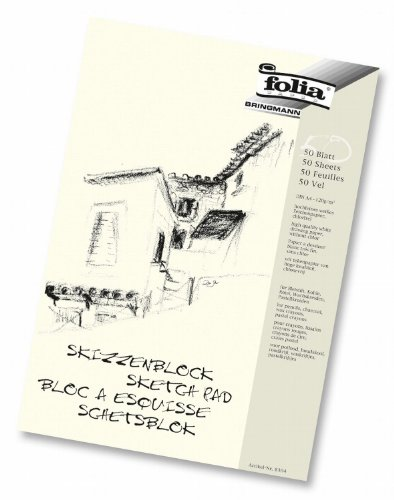 Preisvergleich Produktbild folia 8304 - Skizzenblock, 120 g/m², DIN A4, 50 Blatt