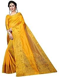 00f77a0d4a Perfectblue Women's cotton Silk Saree With Blouse Piece (RI6IKAvARIATION