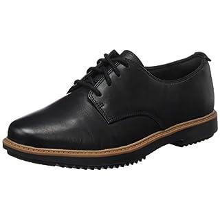 Clarks Damen Raisie Bloom Derbys, Schwarz (Black Leather), 41 EU