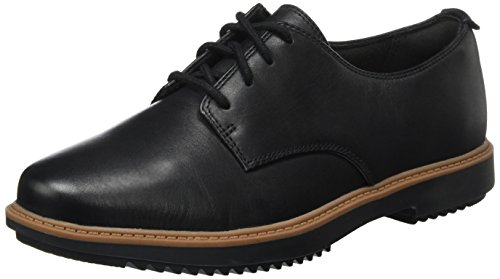 Clarks Damen Raisie Bloom Derbys Schwarz (Black Leather), 37 EU