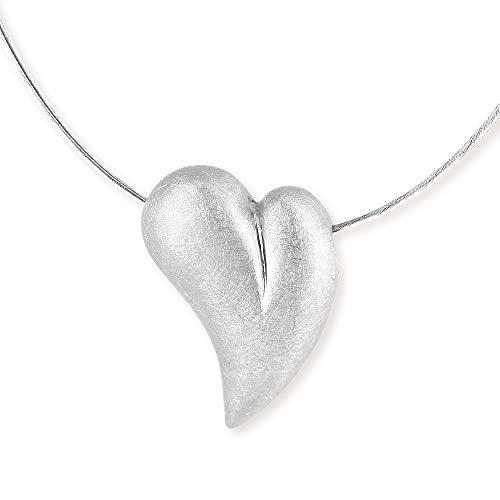 Drachenfels edler Herz-Anhänger | Kollektion My Sweetheart | Eleganter Anhänger in Echtsilber | Herzform Anhänger aus 925 Sterling Silber für Damen