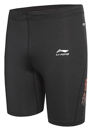 li-ning-pantaloni-corti-uomo-c829-nero-schwarz-orange-xxl