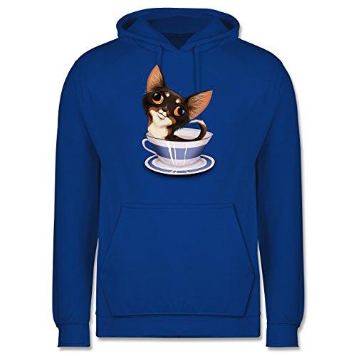 Hunde - Teacup Chihuahua - Männer Premium Kapuzenpullover / Hoodie Royalblau