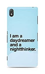 AMEZ daydreamer and night thinker Back Cover For Sony Xperia Z3