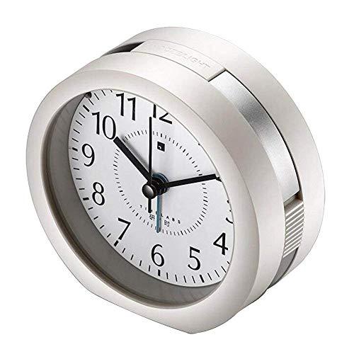 Aich Música Clásico Reloj,Snooze Reloj Despertador Silencioso Sin Tic TAC Reloj Escritorio Dormitorios...