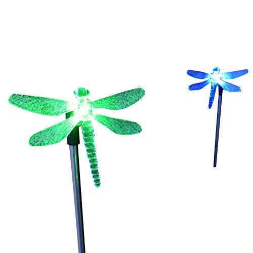 cisting 2Stück Farbwechsel LED Libelle Solar-Leuchten Garten Weg in dem Spiel Laternen für Rasen Yard Patio Outdoor cis-57254C