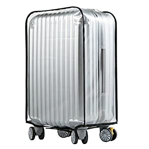 "Meijunter Bagage Imperméable Protecteur Couverture Trolley Case Transparent PVC Sac Étanche à la poussière Voyage Valise Convient 20""22""24""26""28""30"" (Valise non incluse)"