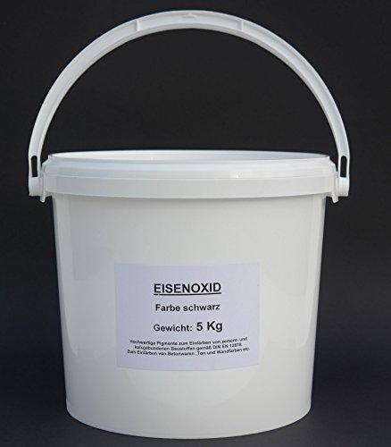5 Kg Farbpigmente Eisenoxid schwarz zum Einfärben von zement-und kalkgebundenen Baustoffen gemäß DIN EN 12878