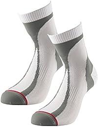 1000 MILE Race Mens Lightweight Running Sock (Pair) White