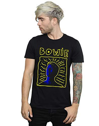 David Bowie Herren 90s Frame T-Shirt Schwarz XXXXX-Large