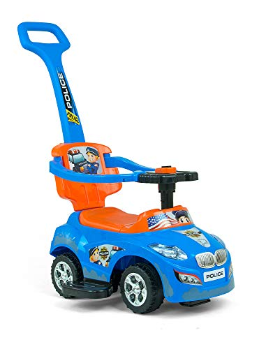 Milly Mally 5901761124620 Milly Mally Ride on 3in1 Happy Blue-Orange Vehicle, blau