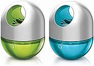Godrej AER Twist, Car Air Freshener - Cool Surf Blue & Fresh Lush Green (