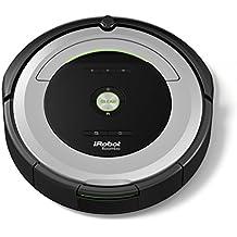 iRobot Roomba 680 - Robot aspirador, potente sistema de limpieza con sensores de suciedad Dirt Detect, aspira alfombras y suelos duros, atrapa el pelo de mascotas, programable, color plata