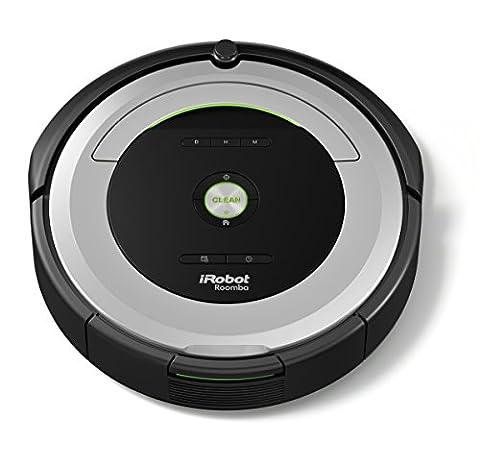 iRobot Roomba 680 Staubsaugroboter (hohe Reinigungsleistung mit Dirt Detect, für alle Böden, geeignet bei Tierhaaren, Reinigung nach Zeitplan) grau