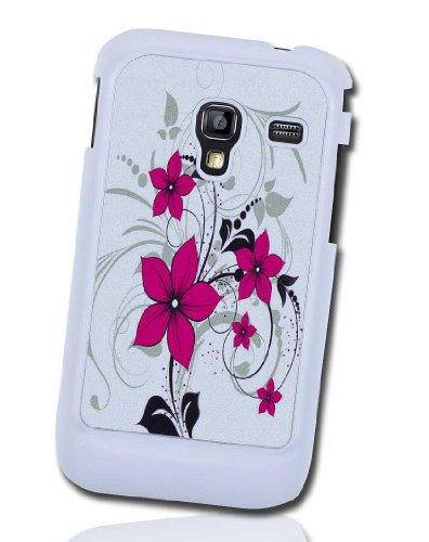 Handy Tasche Hard Case Cover für Samsung Galaxy Ace Plus GT-S7500 / Handytasche Schutzhülle Design 06 Pink