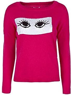 Only–Jersey de punto para mujer, virtual-pink, large