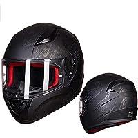 Casco de moto, Modular Abatibles Cara completa Casco Hd Anti-niebla Visera Locomotora Carreras