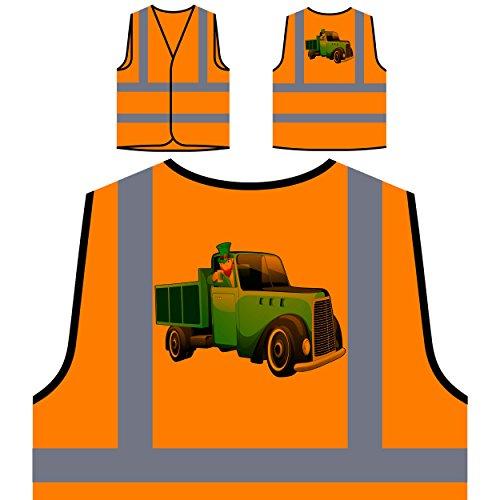 Bier irisch neuheit lucky lustig st. Patricks Tag Personalisierte High Visibility Orange Sicherheitsjacke Weste (St Tag Patricks Weste)