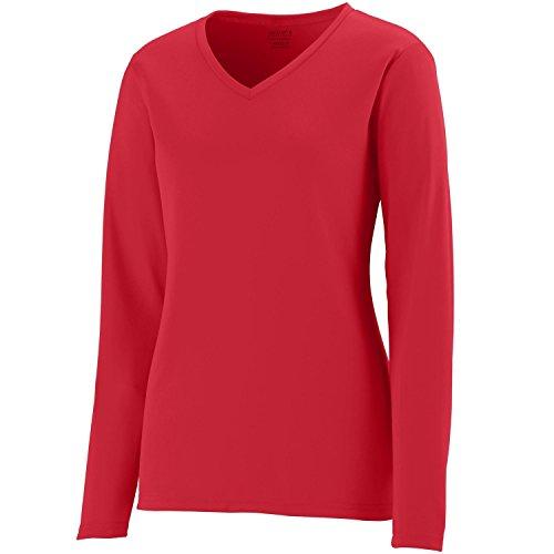 Augusta Sportswear 1788da donna LS Wicking Maglietta Red