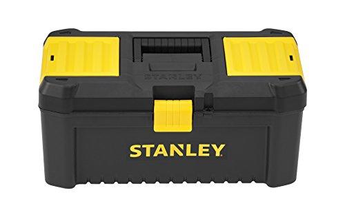 """Stanley Werkzeugbox / Werkzeugkasten (16\"""", 20x19,5x41cm, stabiler Werkzeugkoffer aus Kunststoff, Werkzeugkiste mit Kunststoffschließen ausgestattet, Organizer mit entnehmbarer Trage) STST1-75517"""