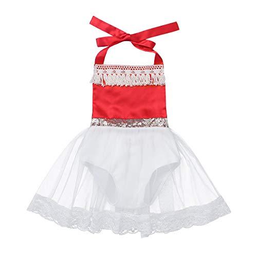 f34cd69a956a7 YiZYiF Bébé Fille Robe Princesse Vaïana Robe à Paillettes Robe Baptême  Soirée Mariage Tutu Robe Anniversaire