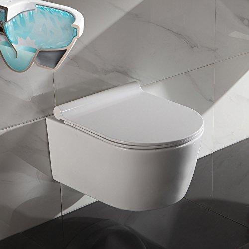 Preisvergleich Produktbild Serena Spülrandloses Wand Hänge WC, Toilette mit SoftClose Sitz