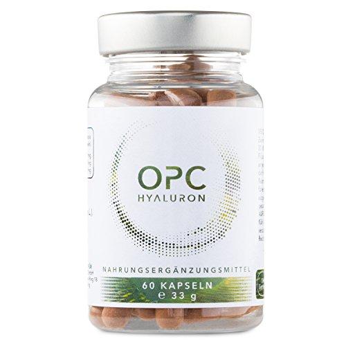 %Einführungspreis% – OPC Traubenkernextrakt und Hyaluronsäure Kapseln – Einzigartig hochdosiert mit 300 mg Hyaluronsäure und 397 mg OPC / 60 Kapseln