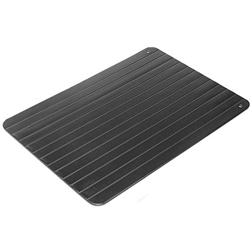 Kimmyer Fast Defrosting Tray Aluminum Alloy Metal Quickly Thawing Plate Board ohne Strom Mikrowelle...
