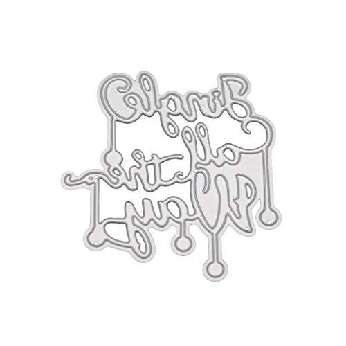 (Ruda Stanzformen Schablone Buchstaben Metall DIY Scrapbooking Prägung Papier Karte Dekoration für Party Geburtstag Briefeinladung)