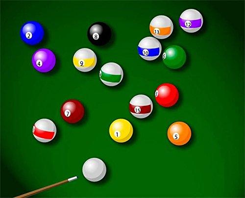 HHCYY Snooker Mode Dekoration Malerei 3D Wandbild Wandbild-350cmx245cm