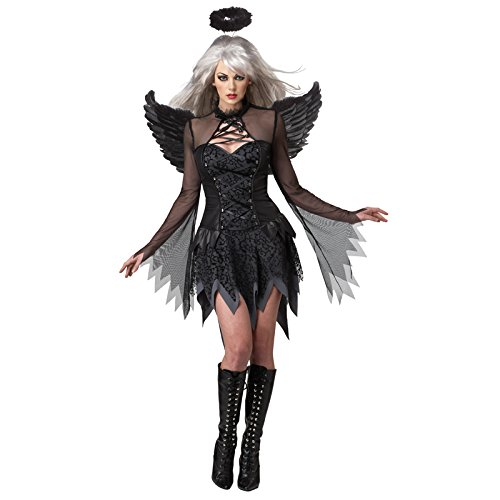 Gefallener Engel Kostüm für Damen (Fallen Angels Fancy Dress Kostüme)