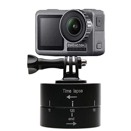 eliaSan Toy 120 Min Zeitraffer 360 Grad Rotation Suptig Stativhalterung Kamera Stativhalterung Elektrischer Stativkopf für Für DJI OSMO Action Kamera