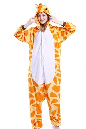 Youson Girl® Einhorn Kostüm Pyjamas Tierkostüm Schlafanzug Verkleiden Cosplay Kostüm zum Karneval Fasching Halloween (M: Höhe (61.8inch-65.7inch / 158cm-167cm), Giraffe) (Pink Girl Kostüme)