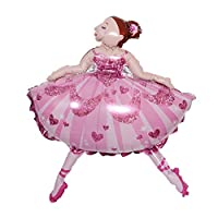 Party R Us Giant Ballerina, Large Ballerina Foil Balloon (113cm or 85inch)