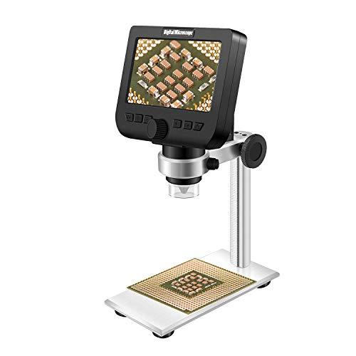 Shumeifang USB Mikroskop, USB 4.3 Zoll LCD 1080P Digitalmikroskop 1000X Vergrößerung Endoskop Microscope mit 8 LED