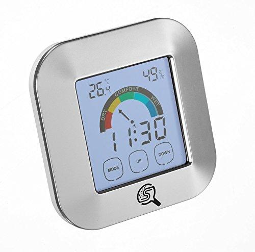 Sherlock Schimmel Digitales Thermo-Hygrometer zur Raumklimakontrolle, Temperaturmessgerät, Luft-feuchtigkeitsmesser, Detektor - Uhr & Alarmfunktion
