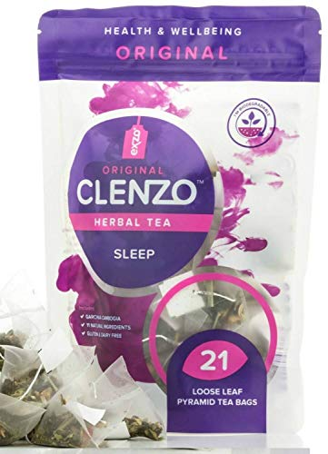 Clenzo Sleep, bolsas té desintoxicante raíz Ashwagandha