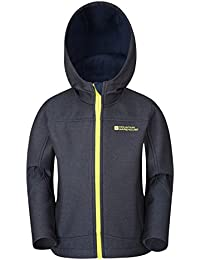 Mountain Warehouse Veste Enfant Fille Garçon Ado Softshell Capuche Coupe-vent Solar
