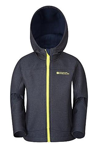 Mountain Warehouse Solar Kids Softshell Jacket Navy 9-10 years