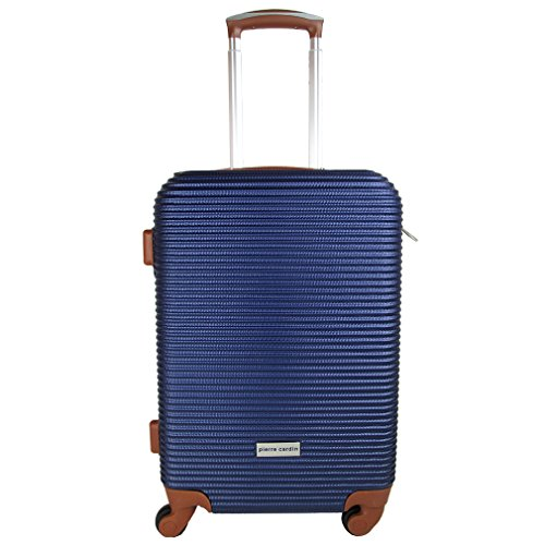 trolley-pierre-cardin-abs-rigido-cabina-4-ruote-bagaglio-a-mano-blu