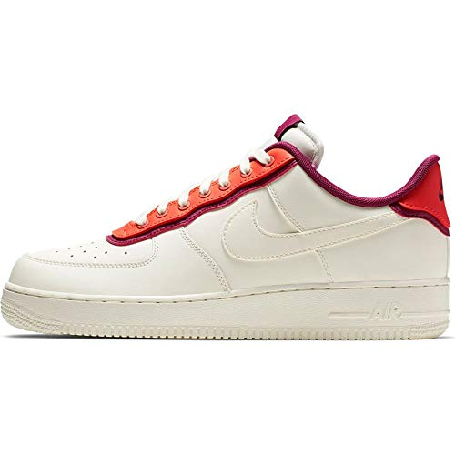 Nike Herren Air Force 1 '07 Lv8 1 Basketballschuhe, Mehrfarbig Sail/Team Orange/True Berry 000, 42 EU