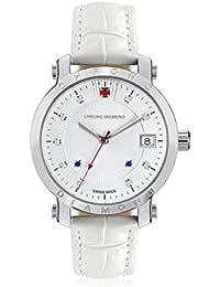 Chrono Diamond 82136_silber-35 mm - Reloj , correa de cuero color blanco