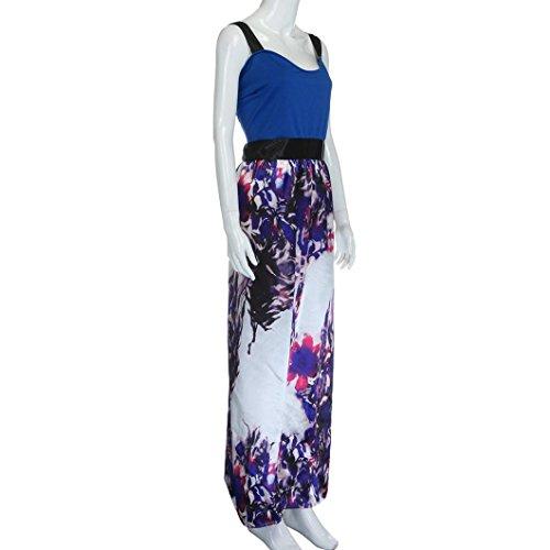 Sommerkleider Damen VENMO Plus Size Frauen Blumen gedruckt lange ...