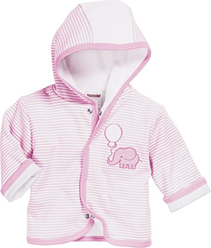 Schnizler Baby-Unisex Jäckchen Elefant Jacke, (Rosa 14), 68 (Baby-creme Pullover)